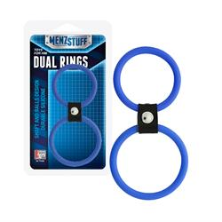 Anilla doble silicona menzstuff dual rings 4 - 5 cm