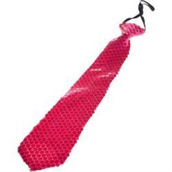 Corbata lentejuelas roja