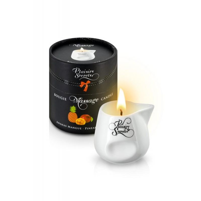 Vela de masaje piña y mango plaisir secret 80 ml