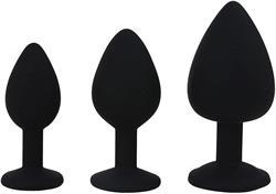 Joya anal set 3 uds candy lust  trainig negro