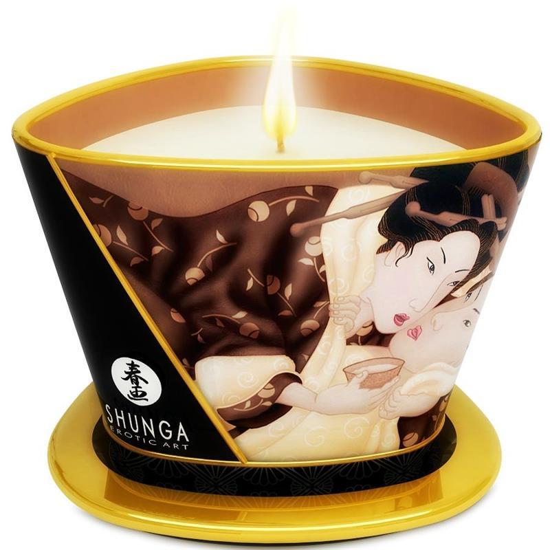 Vela masaje shunga candelight chocolate 170ml