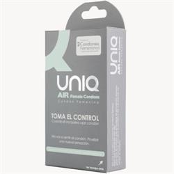 Preservativo femenino uniq air condom 3 unidades