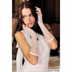 Mitaine guantes natathalia de rejilla blanco