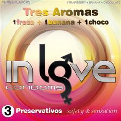 Preservativos  3 unds Aromas Fresa, Banana y chocolate