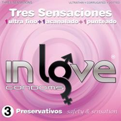 Preservativos Natural 3 Sensaciones Ultra Fino, Acanalado y 1 Punteado