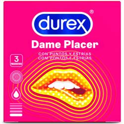 Preservativos durex dame placer 3 unds