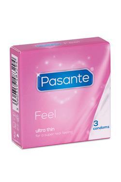 Preservativo fino pasante Feel 3 uds