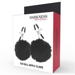 Pinzas para pezones darkness con pompones