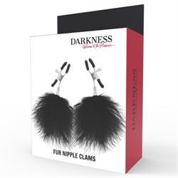Pinzas para pezones darkness con plumas